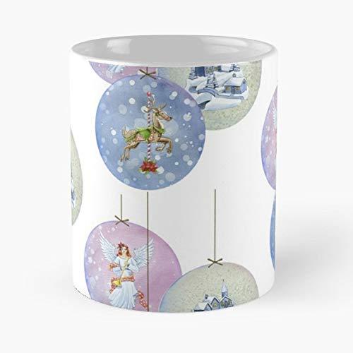 Snow Globe Baubles Vintage Victorian - Best Gift Ceramic Coffee Mugs 11 Oz