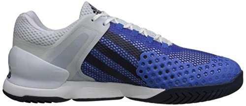 Scarpa Da Tennis Adidas Performance Mens Adizero Ubersonic Bianca / Blu Scuro / Blu