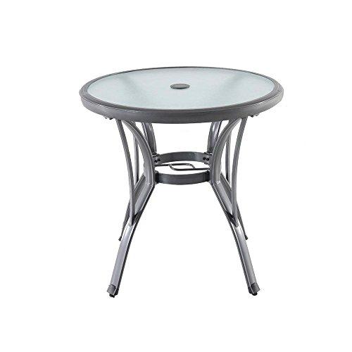 Hampton Bay Commercial Grade Aluminum Grey Round Outdoor Bistro Table ()