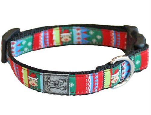 RC Pet Products 3/4-Inch Adjustable Dog Clip Collar, 9 to 13-Inch Width, Santa Pooch, Small