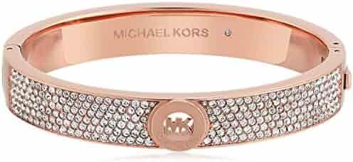 Michael Kors Tone Pave Fulton Hinge Bangle Bracelet