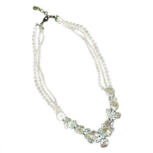 ''Silver Dollar'' Pearl Twist Necklace by Michael Michaud for Silver Seasons… by Michael Michaud