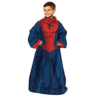 "Marvel's Spider-Man, ""Spider Up"" Youth Comfy Throw Blanket with Sleeves, 48"" x 48"", Multi Color"