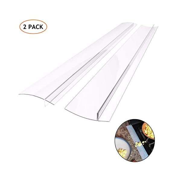 Silicone Gap Cover, (2 Pack) Silicone Gap Stopper Kitchen Stove Counter Gap Covers - 21inches Flexible Stove Space… 1