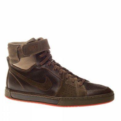 Nike Air Flytop Premium, Vollnarbenleder, Top Design, Komfort, Air-Dämpfung, 385225-201, Braun, Größe Euro 40,5 / US 7,5 / UK 6,5 / 25,5 cm