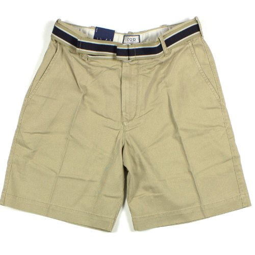 Mens IZOD Shorts With Belt Flat Front