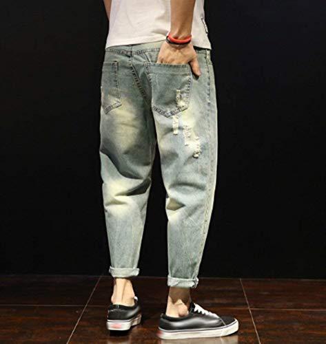Pantalones Stil2 Slim De Pantalones De Fit Ripped Pants Mezclilla Hombres Pantalones Harem Vaqueros Los De Mezclilla Pantalones Casuales Destroyed Loose Chicos Vaqueros Estiramiento Clásico De AnIqT0wx7S