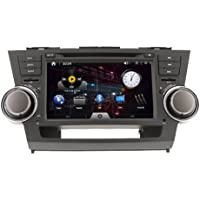 8inch 2 DIN In-dash Car DVD Player for Toyota Highlander 2008-2012 with Gps,bt,ipod,rds,touch Screen,tv Free Map Card