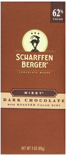 Scharffen Berger Nibby Dark Chocolate with Roasted Cacao Nibs, 3 Ounce