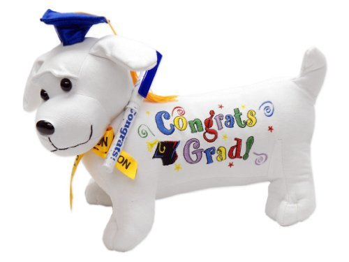 Graduation Autograph Stuffed Dog w/ Pen,