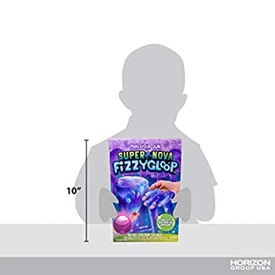 Fizzygloop Super Nova DIY Slime Making Kit by Horizon Group USA, Make Your Own Fizzy, Sparkly, Gooey, Sticky, Stretchy Slime Putty, Add Color & Glitter, Purple: Toys & Games