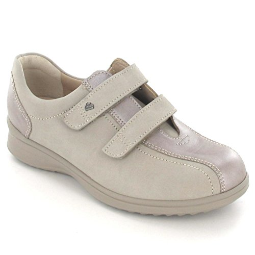 Finn Comfort - Zapatos de cordones para mujer Beige - Beige-Kombi.