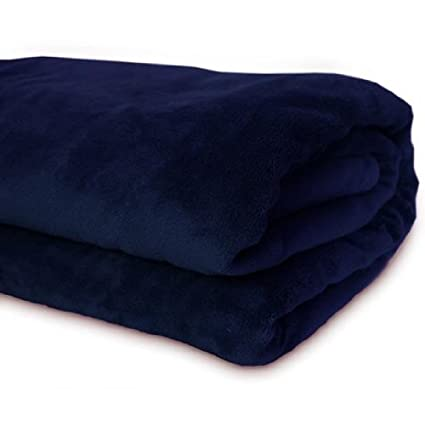 Jago   Manta súper suave de dimensión 200 x 220 cm   color azul