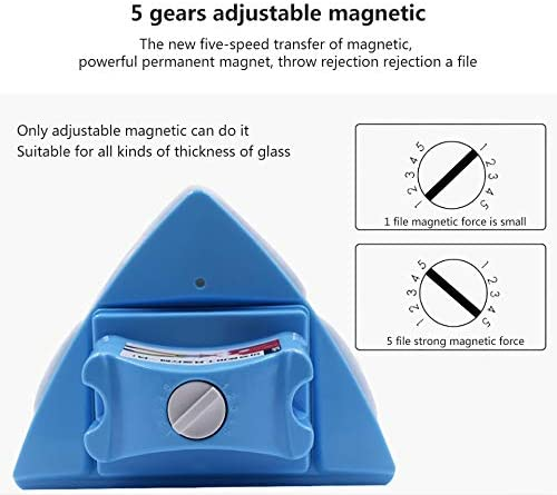 YEAKOO Limpiador magnético para ventanas, doble cara, ajustable, magnético, doble ventana, limpiaparabrisas, herramienta de limpieza, deslizador, con cuerda anticaída para ventanas de alto alzado y vidriadas, 4-32MM: Amazon.es: Hogar