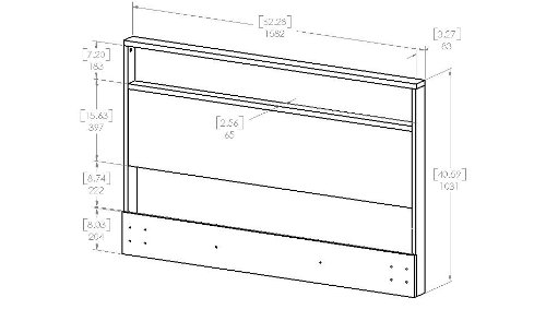 South Shore Holland Headboard with Shelf, Full/Queen 54/60-Inch, Pure White by South Shore (Image #4)