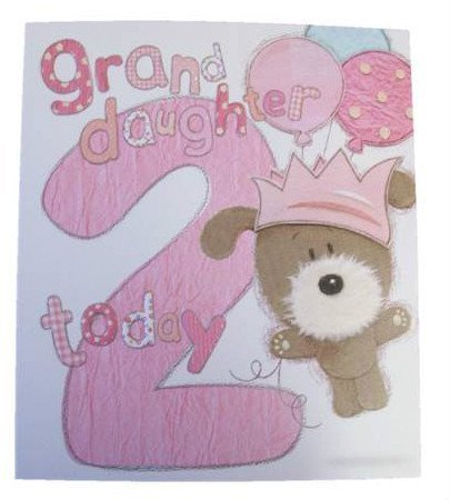 Lots Of Woof Junior Granddaughter 2Nd Birthday Card 11 X 95 Code 280122 Amazonca Home Kitchen