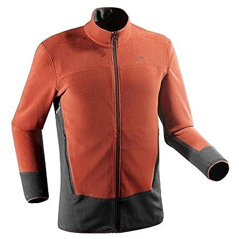 1578de00306 Buy Quechua MH520 Men s Mountain Hiking Fleece Jacket - Orange ...