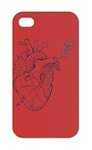Shot a través del corazón iphone 5–5S plastic case