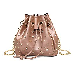 Rivet Bucket Ladies Luxury Leather Bag