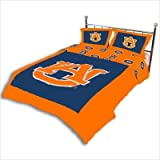 College Covers Auburn Tigers Printed Dust Fashions Ruffle, King