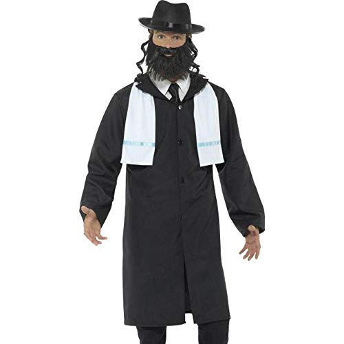 Smiffys Men's Rabbi Costume, Black, -