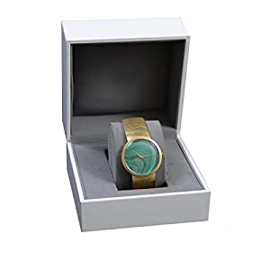 Christian Dior La D De Dior Malachite Dial Solid Swiss Gold Watch