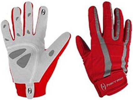 Harrow Rampart Women's Lacrosse Glove, Medium, Red Chilli/Steel
