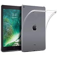 NETONBOX MX Funda iPad 9.7 2017/2018 Silicon Transparente. Case Gel Flexible iPad 5 (2017) y iPad 6 (2018) Pulgadas TPU 1 mm (No es Compatible con iPad Air 1, iPad Air 2 Ni iPad Pro 9.7)