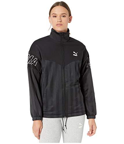PUMA Women's luXTG Jacquard Jacket, Black, - Womens Puma Woven Jacket