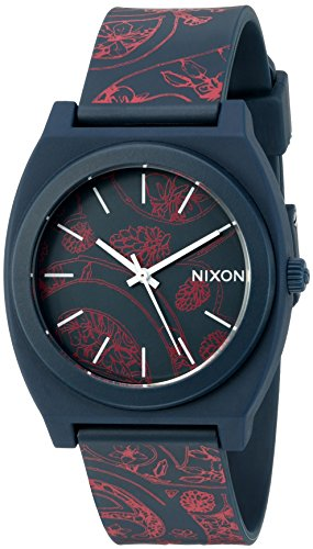 Nixon Men's 'Time Teller P' Quartz Stainless Steel and Rubber Automatic Watch, Multi Color (Model: A1191984-00)