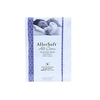Allersoft Cotton Pillow Encase, Dust Mite & Allergy Control, King