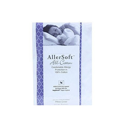 Allersoft Square Cotton Dust Mite and Allergy Control Pillow Protector, 16 by 16-Inch