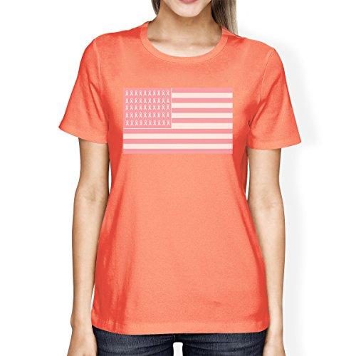 Printing shirt T Manches Pêche Femme Taille Courtes Unique 365 ZfHwf