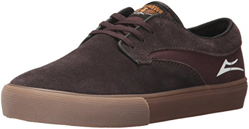 Hawk Skate Scarpe AI17 Lakai Surf Riley Chocolate Suede W7SFv