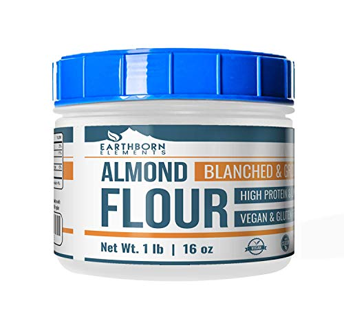 - Almond Flour (1 lb. (16 oz.)) by Earthborn Elements, Resealable Tub, Paleo & Keto Friendly, Gluten-Free, Vegan, Product of California, Blanched