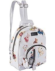 Ugoodbag Mini Bear Leather Backpack ,Classic PU Leather Travel Daypack Leisure Shoulder Bag for Women Girls