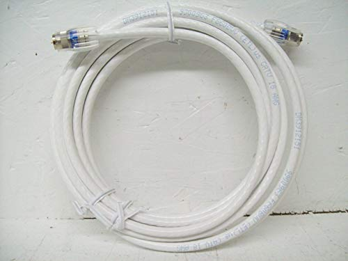 GE 73311 15-Feet RG6 Coaxial Video Cable, White, F Type Connections