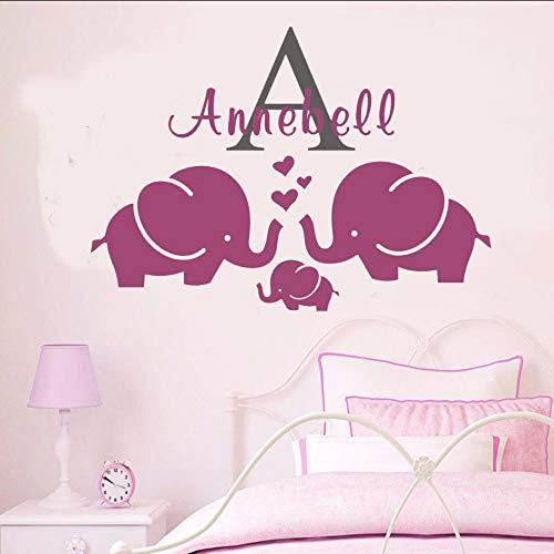liubeiniubi Elephant Kids Removable Vinyl Wall Stickers Personalized Name Wall Decal Art Mural Decor Wall Sticker Selling Wall Tattoo -