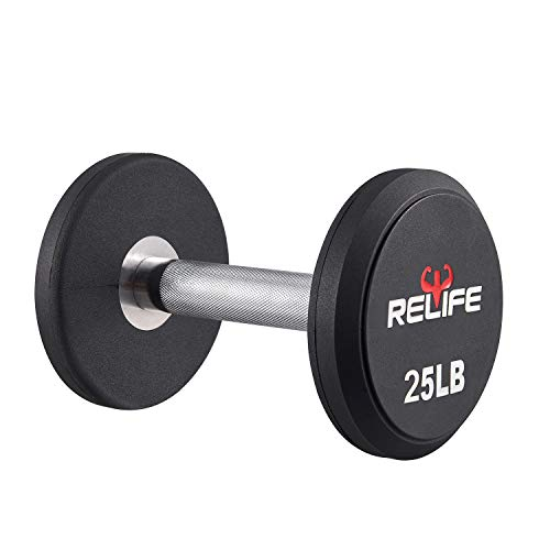 RELIFE REBUILD YOUR LIFE Dumbbell Set PEV Material Round End Dumbbell Heavy Weights Barbell Metal Handles for Strength…