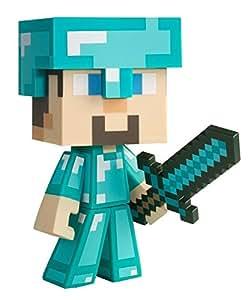 Minecraft Diamond Steve - Figura coleccionable (vinilo) - Figura Diamond Steve Vinyl
