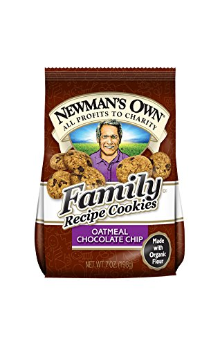 Newman's Own Family Recipe Cookies, Oatmeal Chocolate Chip, 7-oz. (Pack of 6)