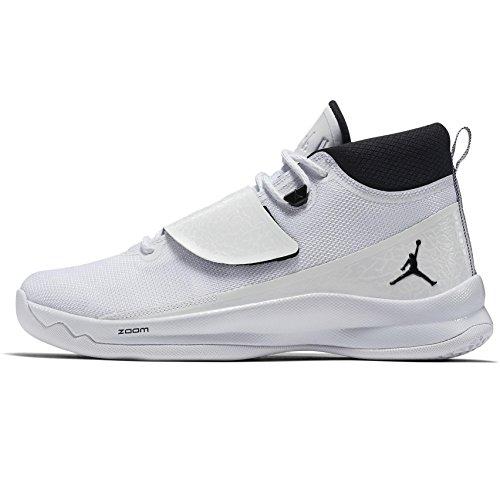 Jordan Men's Super Fly 5 Basketball Shoes White/Black-White 9.5