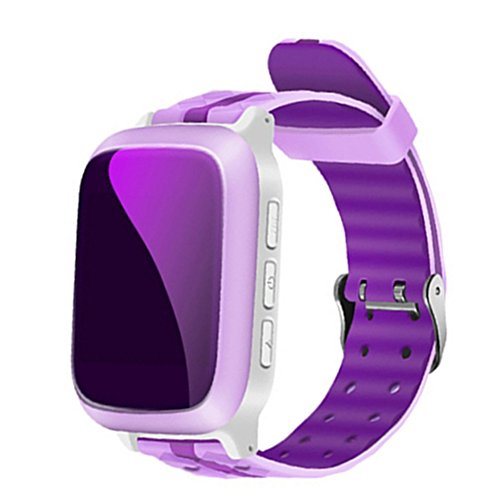 Tracker Drop - Samber Children Smart Phone Watch with GPS WiFi Locator Tracker Anti-lost SOS Call Waterproof and Drop-proof Kid Wristwatch Phone Watch For IOS Android Smart Bracelet for Children Girls Boys (Pink)