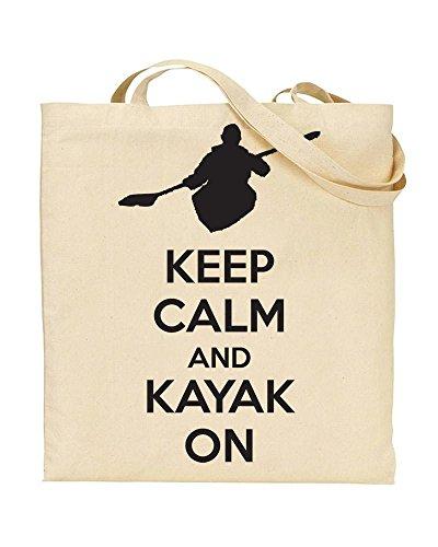 Keep Calm And KAYAK ON - TOTE - Bag - Handbag - Shopping - Novelty Gift by TeeDemon