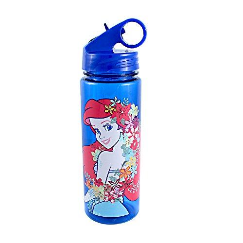 Silver Buffalo DQ7564 Disney Princess Little Mermaid Pose Tritan Water Bottle, 20-Ounces