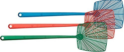 DOA 3 Count Insect Fly Swatters Blue Green Red Flyswatt