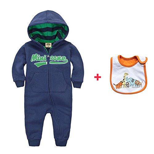 CORLISS Baby Spieler mit Baby Bib für Jungen Mädchen (8-12 Monate(Baby-Höhe:28.5-31.5 Zoll), # BDB19)