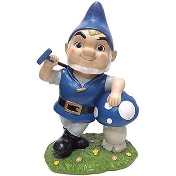 amazon com dig gnomeo with mushroom garden statue 12 3 by 7 75