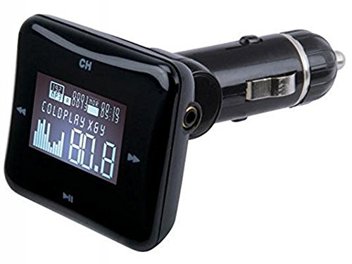 Scosche Universal Digital FM Frequencies Transmitter with SD Card Reader, USB Flash Drive Reader and USB Car Charger, Black (Non-Retail Packaging) (Scosche Digital Fm Transmitter)