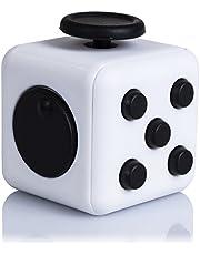 DAM Fidget Cube Anti Stress met ontspannende 6 modules, kleur wit zwart (dmv094whiteblack)